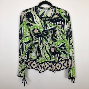 Tops - Crown & ivy PL geo abstract print baby doll blouse
